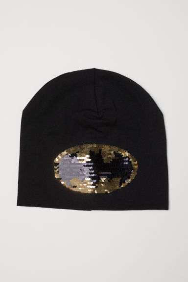 Hat with reversible sequins - Black/Batman - Kids | H&M CN