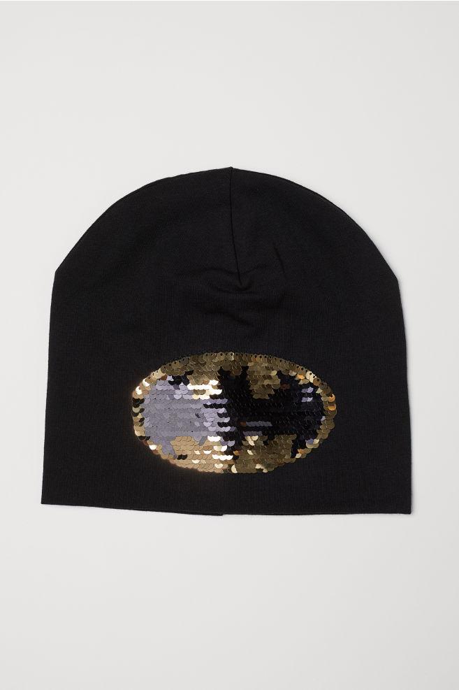 8ecd74c3a21 Hat with reversible sequins - Black Batman - Kids