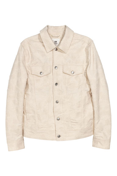 Jacquard-patterned jacket - Natural white -  | H&M