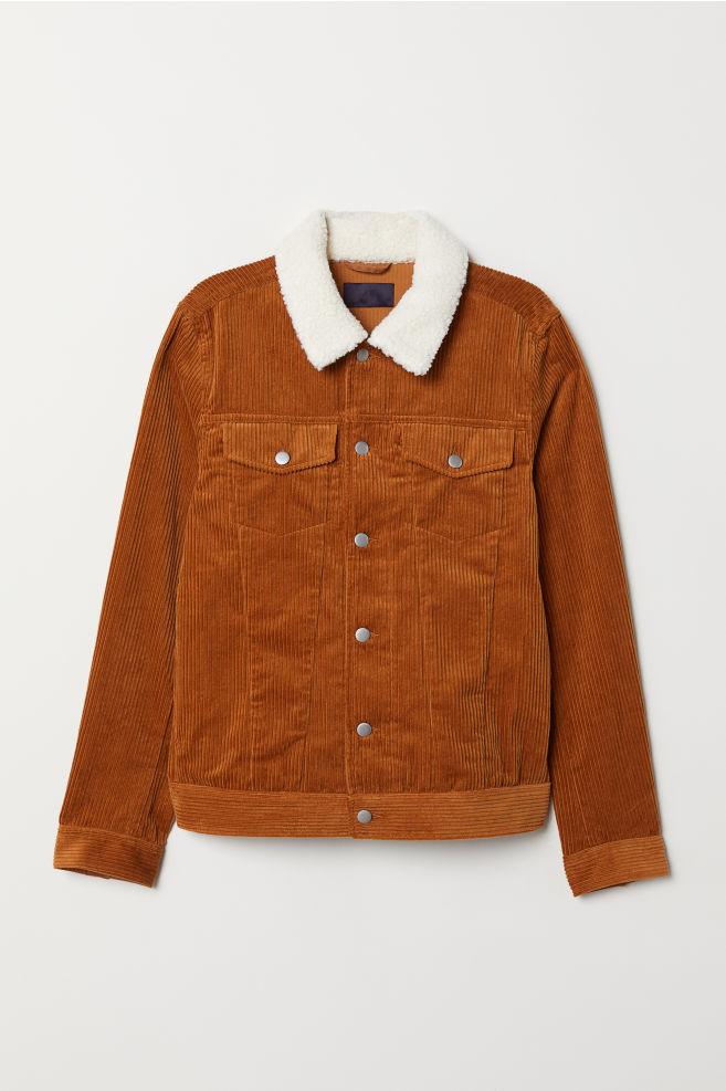 4d547fcf9 Pile-collared corduroy jacket