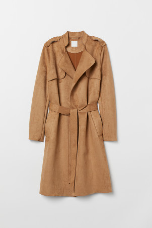 Trenchcoat i mockaimitation