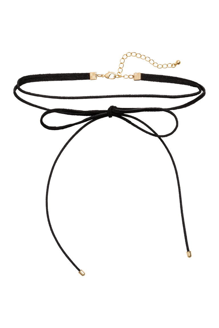 Choker with a bow - Black -  | H&M