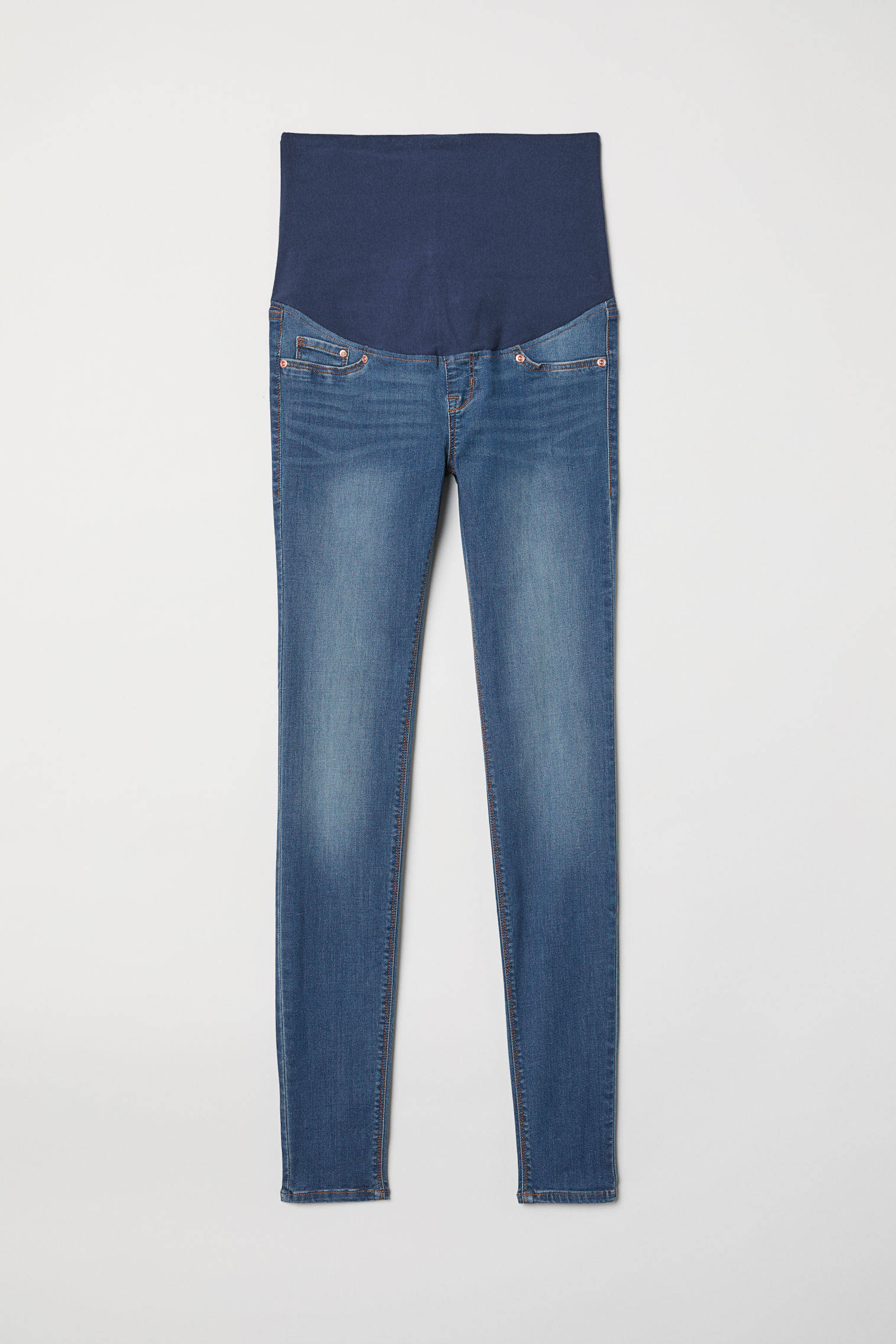 f84f0498fe660 MAMA Super Skinny Jeans - Dark denim blue - Ladies | H&M US