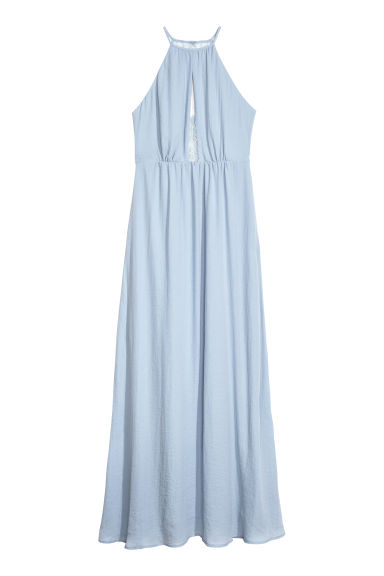 Long dress with a lace back - Light dusky blue -  | H&M