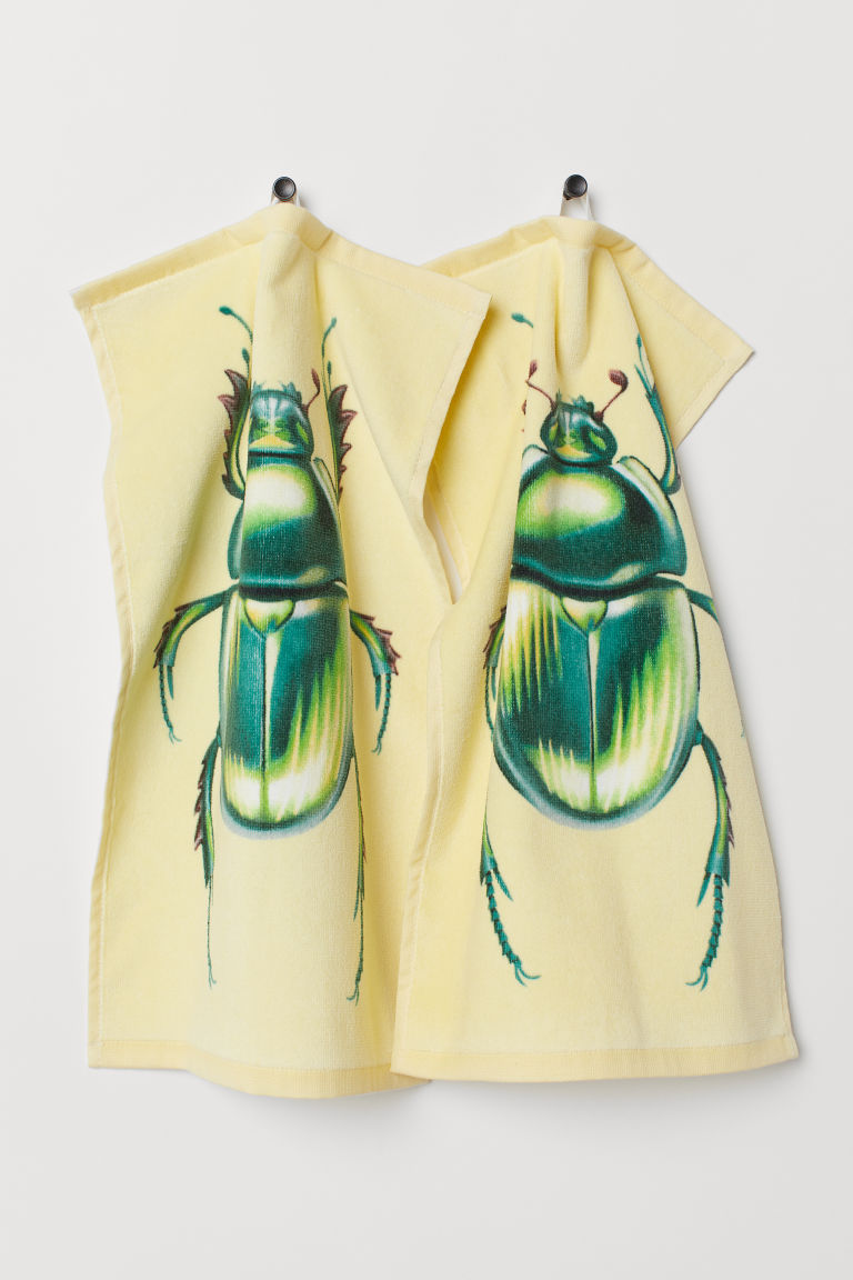 2-pack guest towels - Yellow/Scarab - Home All | H&M CN