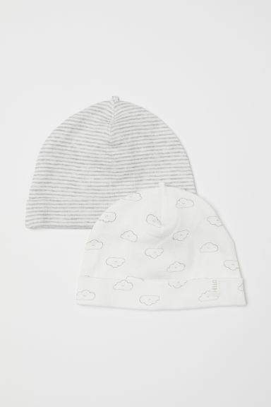 2-pack hats - White/Clouds - Kids | H&M CN
