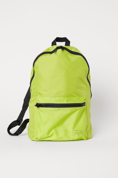 Foldaway backpack - Neon green - Men | H&M