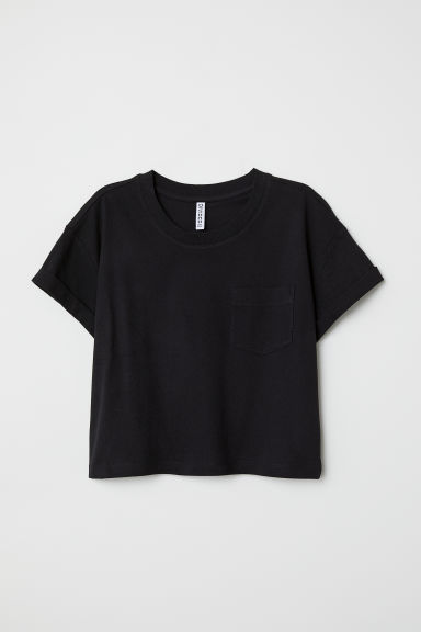 Cropped T-shirt - Black - Ladies | H&M CN