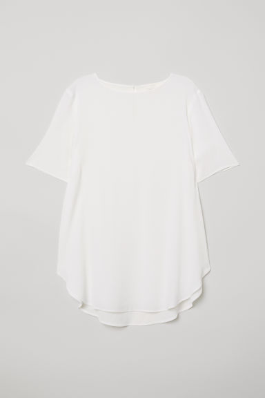 Crêpe top - White - Ladies | H&M CN