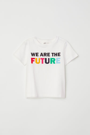 Printed T-shirt - White - Kids | H&M CN