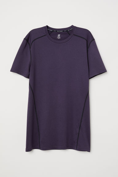 Short-sleeved sports top - Plum - Men | H&M CN