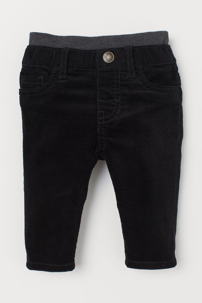 Pull-on corduroy trousers - Black - Kids | H&M