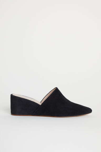 Suede mules - Black - Ladies | H&M