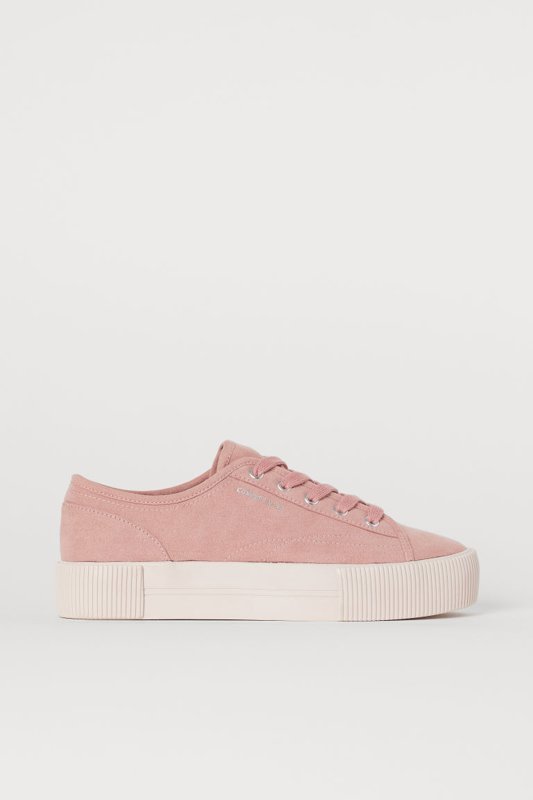 Sneakers con plateau - Rosa vintage -  | H&M IT