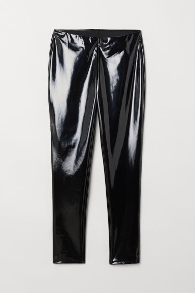 H&M+ Leggings - Black/patent - Ladies | H&M US