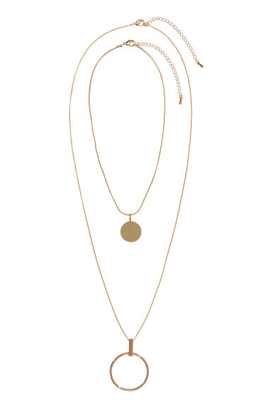 2-pack necklaces - Gold-coloured - Ladies | H&M IE