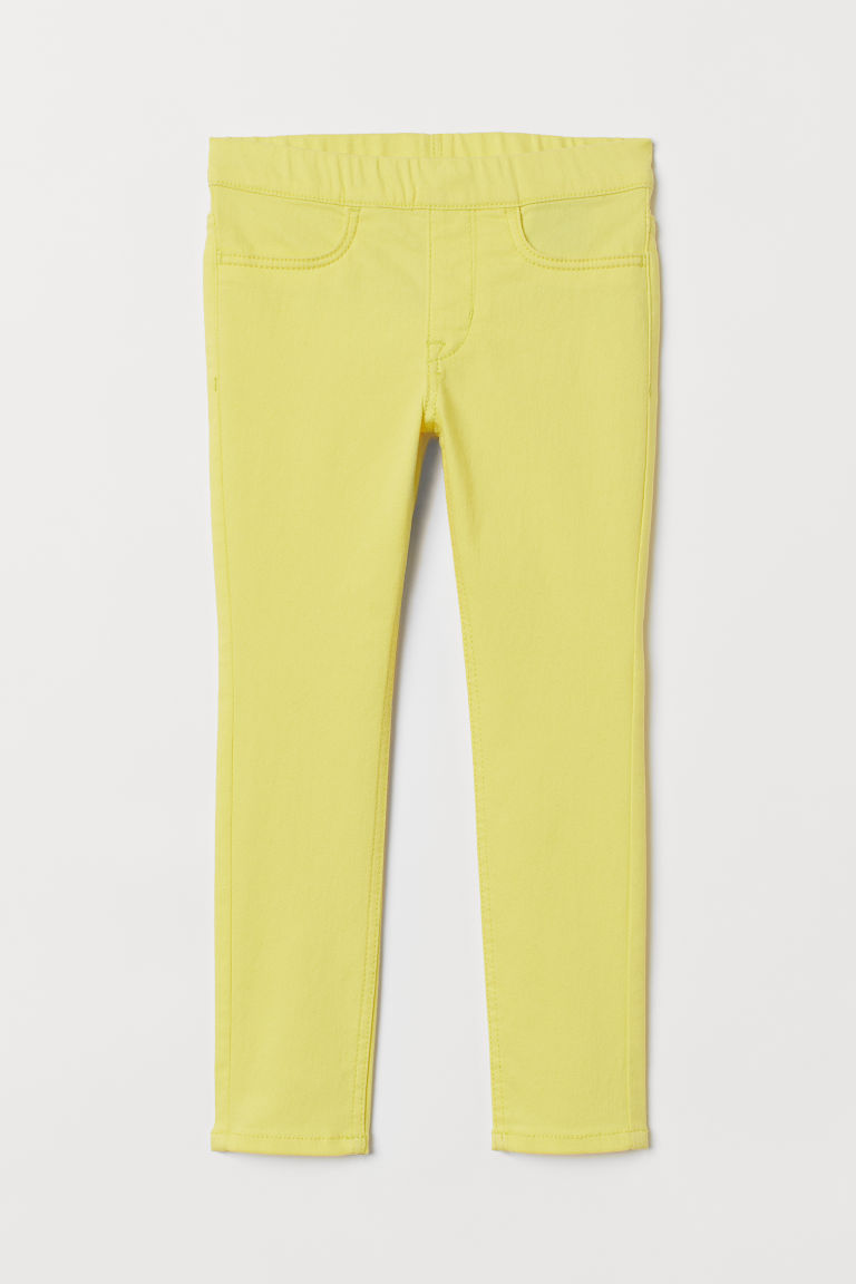 Twill treggings - Yellow - Kids | H&M