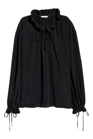 Wide blouse - Black - Ladies | H&M IE
