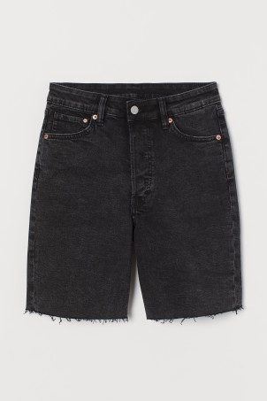 Denim Bermuda ShortsModel