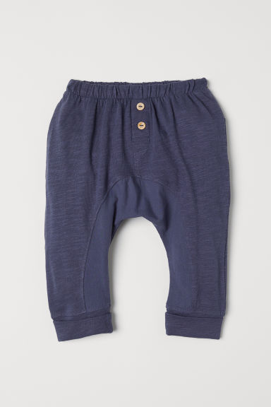 Slub jersey trousers - Grey-blue - Kids | H&M CN