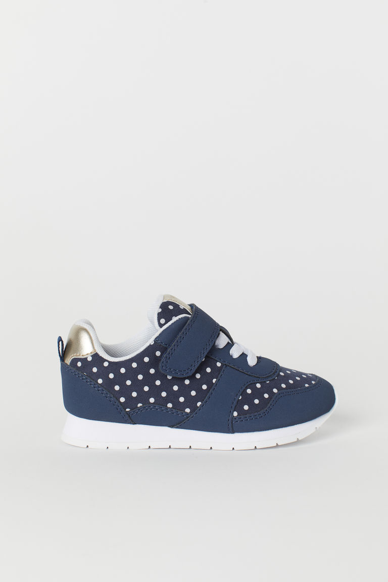 Trainers - Dark blue/Spotted - Kids | H&M CN