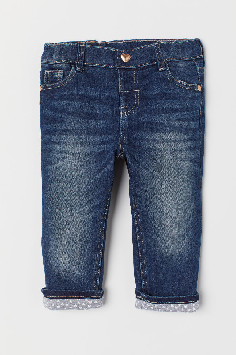 Lined jeans - Dark denim blue - Kids | H&M