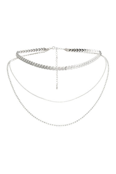 Three-strand necklace - Silver - Ladies | H&M CN