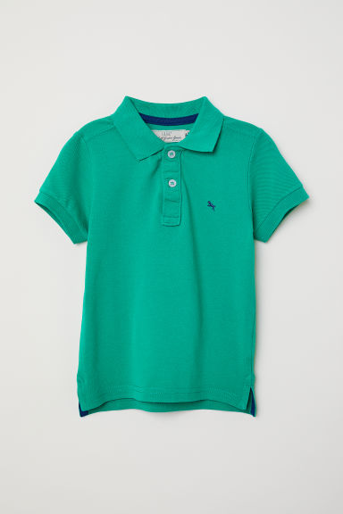 Piqué polo shirt - Green -  | H&M CN