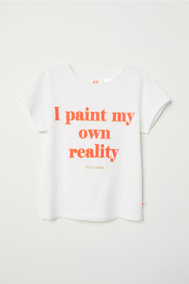 454cd5c1 Text-print T-shirt - White/Frida Kahlo - Kids | H&M GB