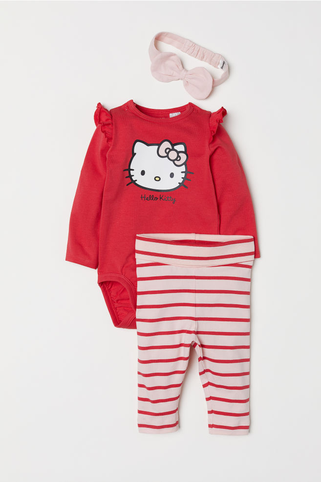91f1d5ad2 3-piece Jersey Set - Red Hello Kitty - Kids
