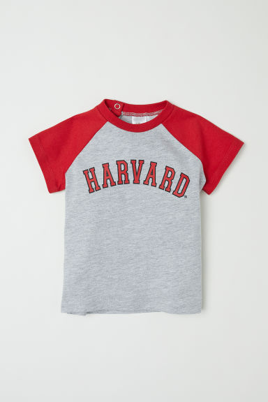 T-shirt with a print motif - Light grey/Red - Kids | H&M