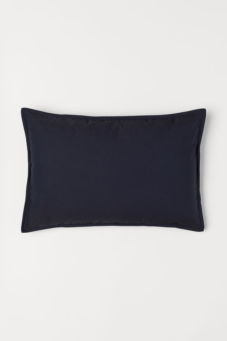 Solid colour cushion cover - Dark blue - Home All | H&M CN