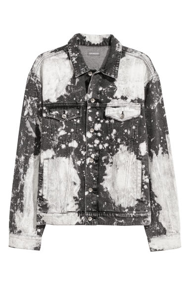 Bleached denim jacket - Black/Bleached -  | H&M GB