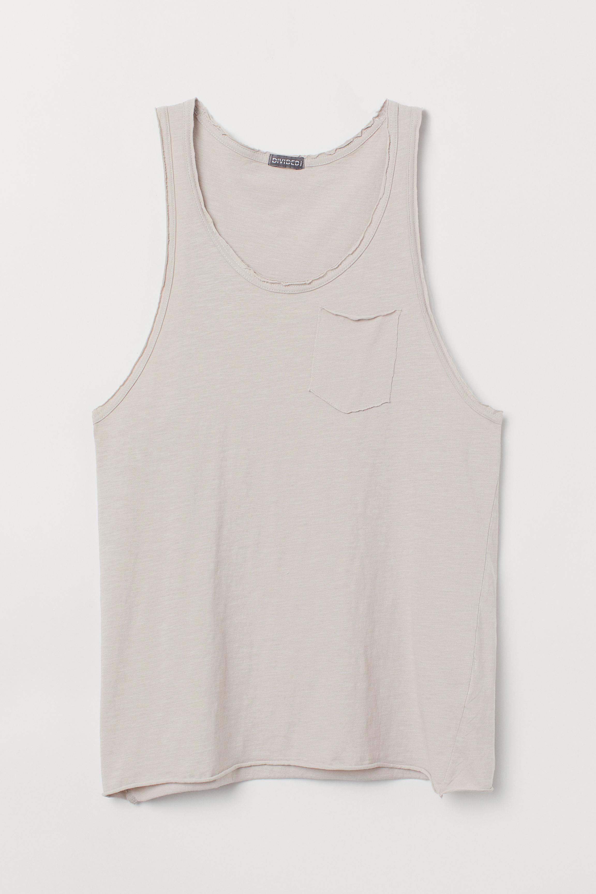 6b504090e21d9a Slub Jersey Tank Top - Natural white - Men
