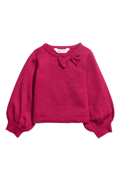 Glittery jumper - Cherry red -  | H&M IE