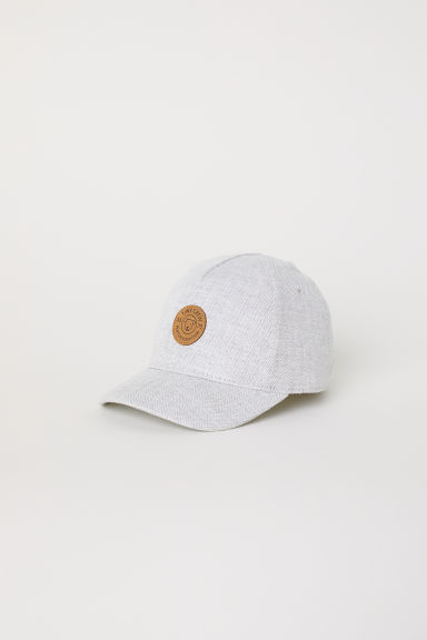 Cap with embroidery - Light grey - Kids | H&M CN