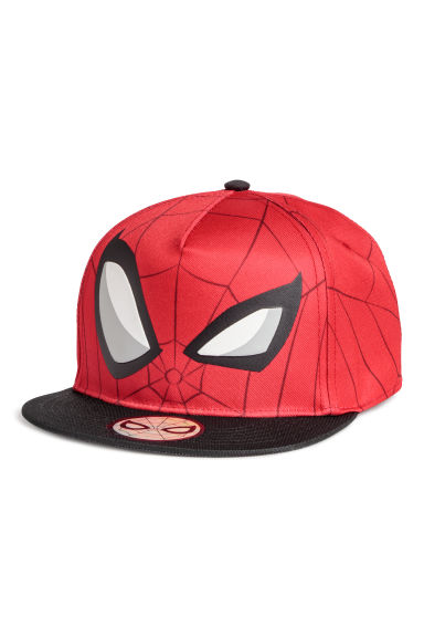 Cap with a motif - Red/Spider-Man -  | H&M
