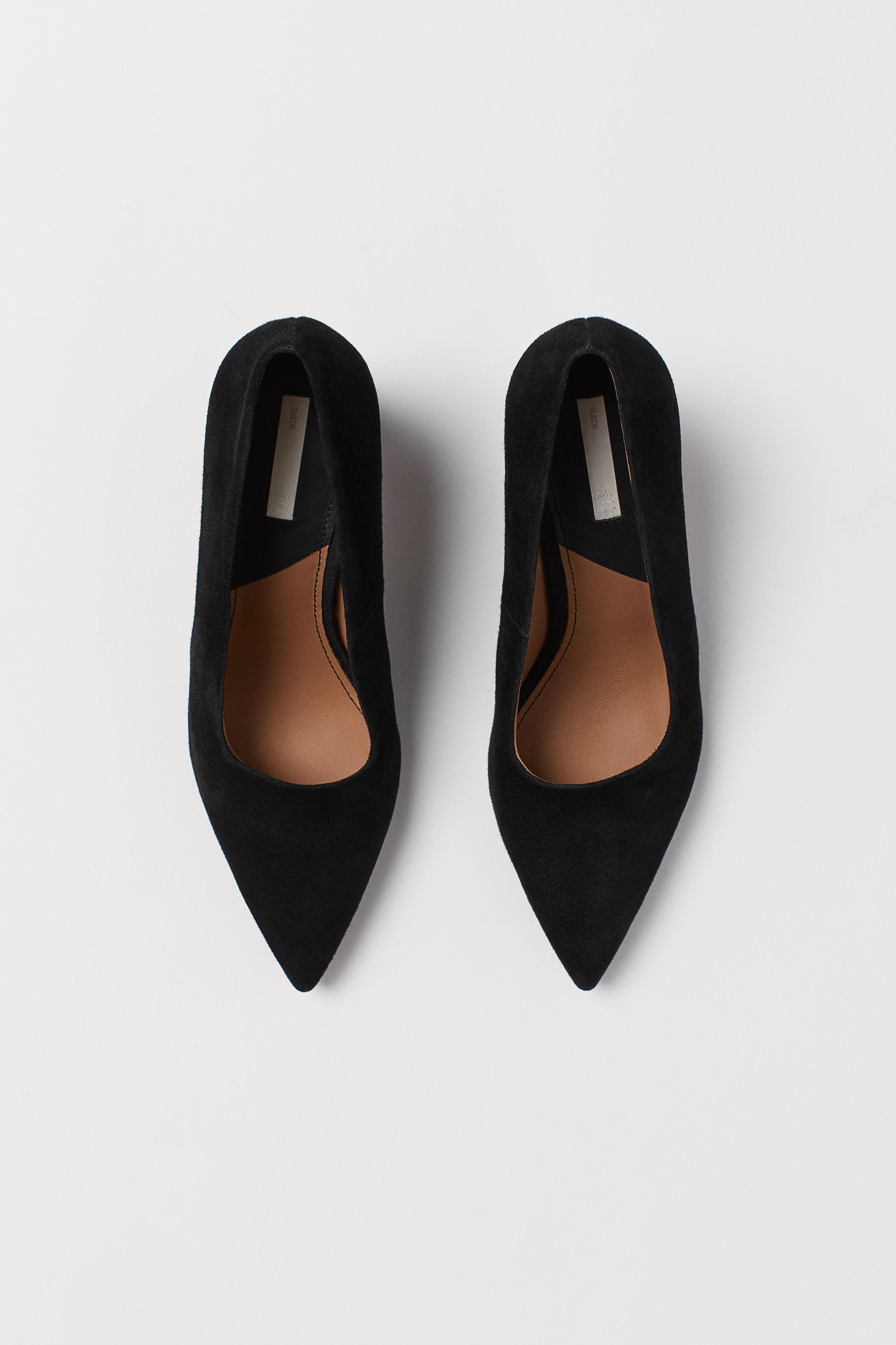 367b5ac4478 Block-heeled court shoes - Black Crocodile-patterned - Ladies