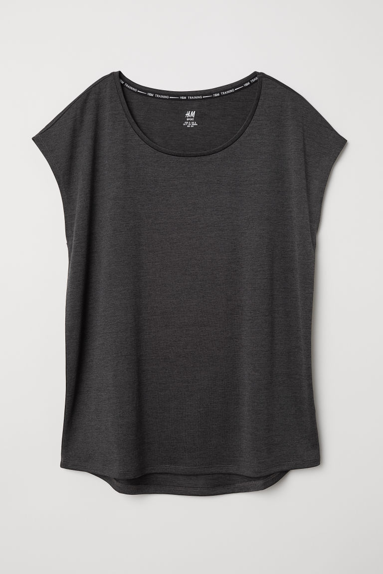 Top sportivo - Nero mélange - DONNA | H&M IT