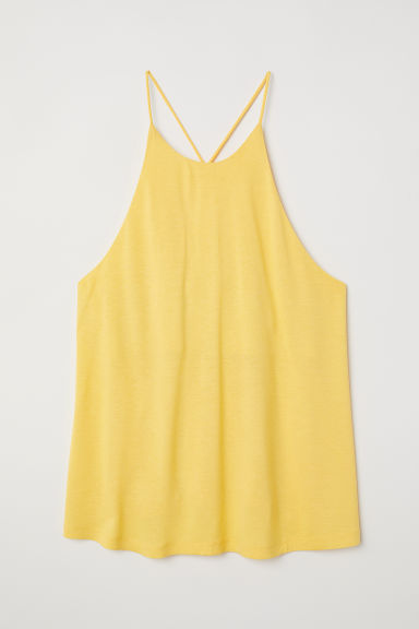 Jersey top - Yellow - Ladies | H&M CN