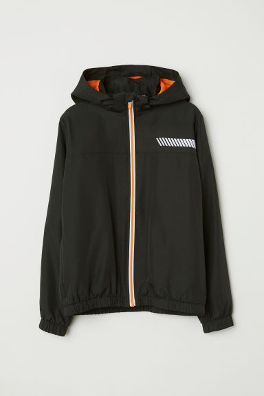 Hooded sports jacket - Black - Kids | H&M