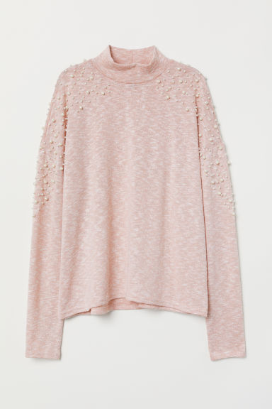 Beaded jumper - Pink -  | H&M