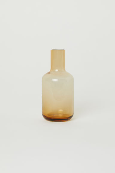 Clear glass mini vase - Dark yellow - Home All | H&M IE