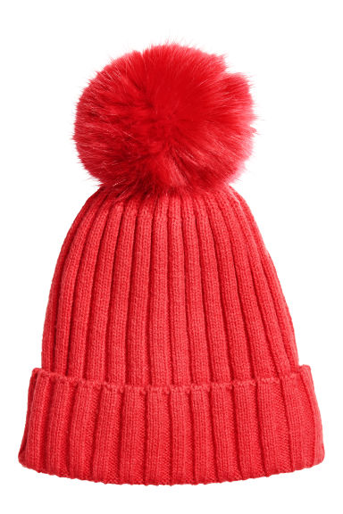 Knitted hat - Red - Kids | H&M CN