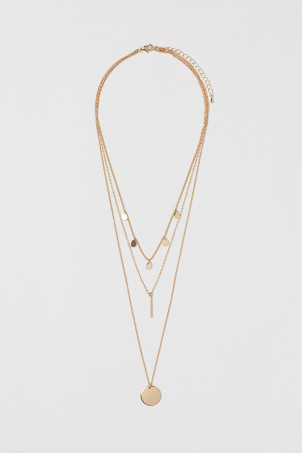 Three-strand necklaceModel