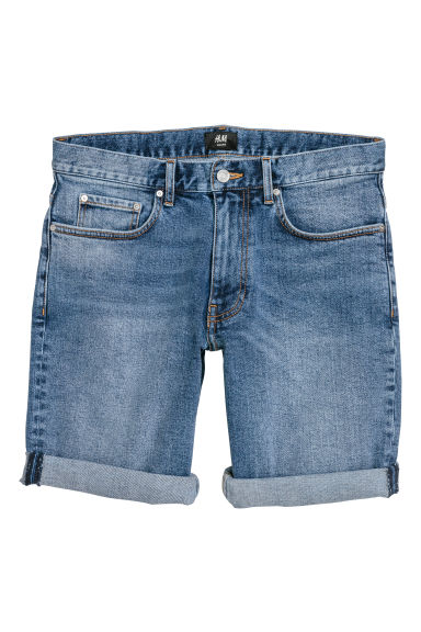 Slim Denim Shorts - Denim blue - Men | H&M CN