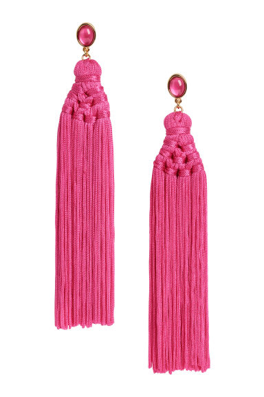 Tasselled earrings - Cerise -  | H&M CN