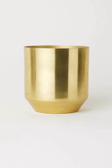 Small metal plant pot - Gold-coloured - Home All | H&M IE