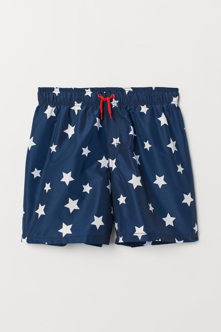 Swim shorts - Dark blue/Stars - Kids | H&M