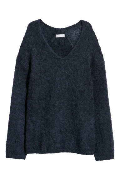 Pullover in misto mohair - Blu navy -  | H&M IT